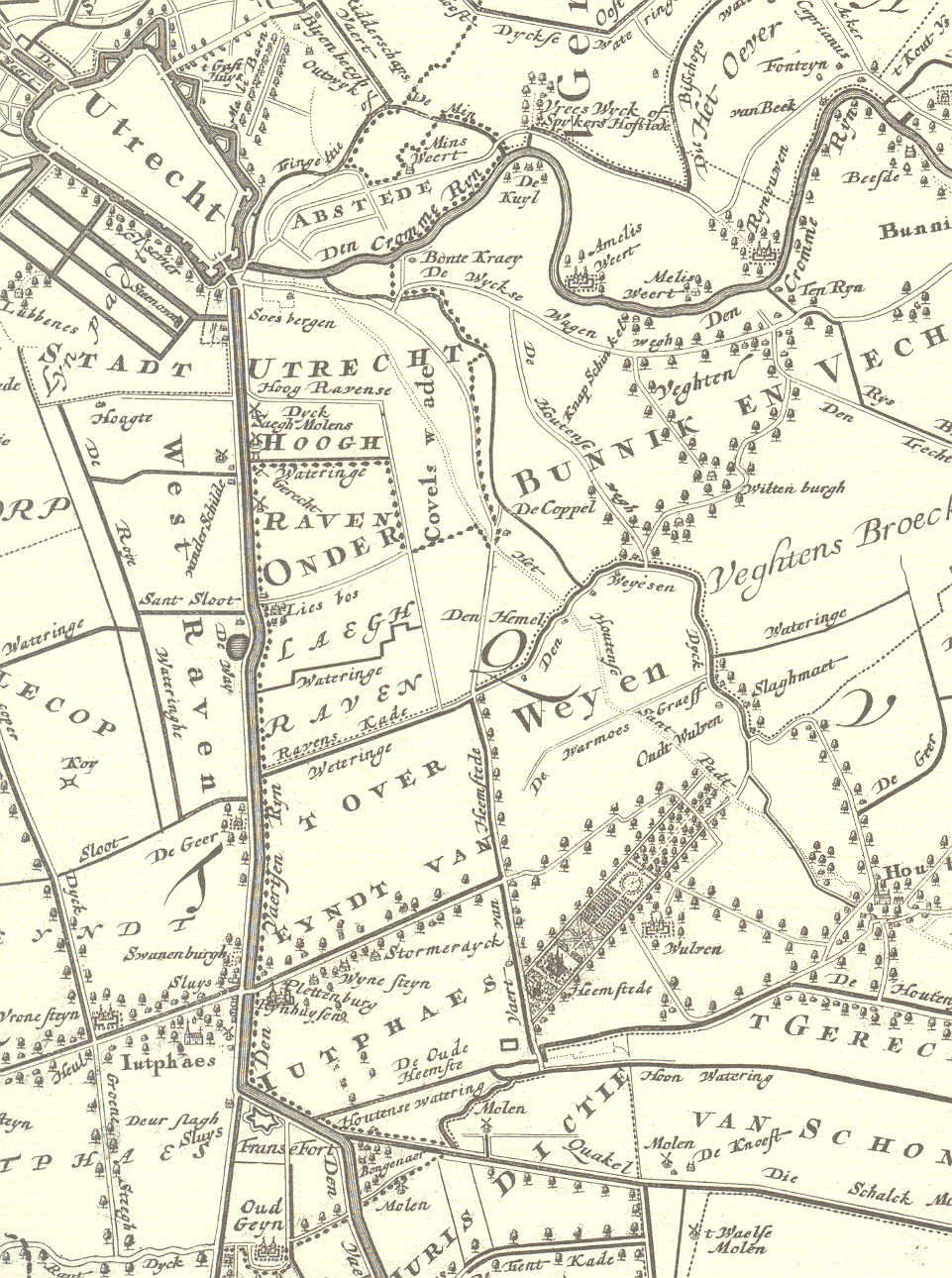 kaart overeind