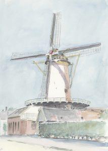 De Arkduif te Bodegraven, geaquarelleerd door Wim Hagemans, circa 2000