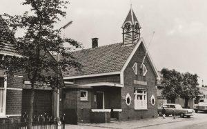 Gemeentehuis aan de Kerkweg te Driebruggen, 1955.