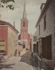 De toren van de Hervormde Kerk, circa 1900.