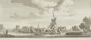 Gezicht op Montfoort vanuit het zuiden, 1744.