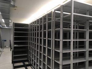 De archiefbewaarplaats wordt ingericht.
