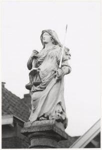 De justitiepaal in 1993.