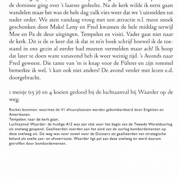 Publicatie oorlogsdagboek Jaap van der Vooren sr.