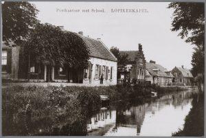 Het hart van het dorp begin twintigste eeuw, met onder meer zicht op de Enge IJssel (fotonummer: L0508).